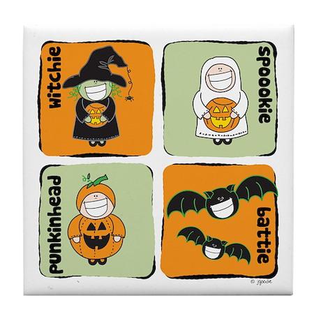 Halloween Goodies Tile Coaster