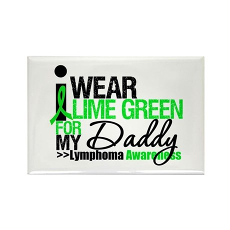 I Wear Lime Green For My Daddy Rectangle Magnet