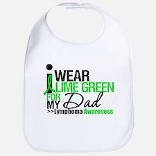 I Wear Lime Green For My Dad Bib