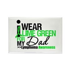 I Wear Lime Green For My Dad Rectangle Magnet