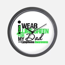 I Wear Lime Green For My Dad Wall Clock