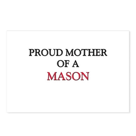 Proud Mother Of A MASON Postcards (Package of 8)