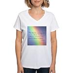 Peace Rainbow Women's V-Neck T-Shirt
