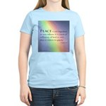 Peace Rainbow Women's Light T-Shirt