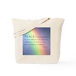 Peace Rainbow Tote Bag