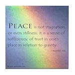 Peace Rainbow Tile Coaster