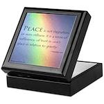Peace Rainbow Keepsake Box