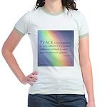Peace Rainbow Jr. Ringer T-Shirt