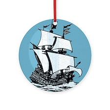 Mayflower Ornament (Round)