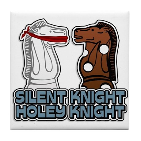 Silent Knight Holey Knight Tile Coaster