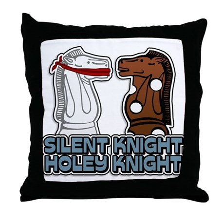 Silent Knight Holey Knight Throw Pillow