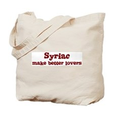 Syriac Make Better Lovers Tote Bag