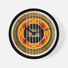 The Fire Mandala Wall Clock