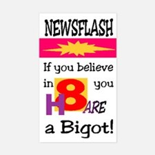 H8ers ARE Bigots Rectangle Decal