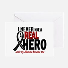 Never Knew A Hero 2 MELANOMA (Momma) Greeting Card