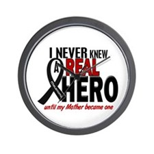 Never Knew A Hero 2 MELANOMA (Mother) Wall Clock