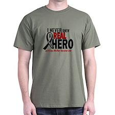 Never Knew A Hero 2 MELANOMA (Mother) T-Shirt