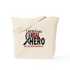 Never Knew A Hero 2 MELANOMA (Sister) Tote Bag
