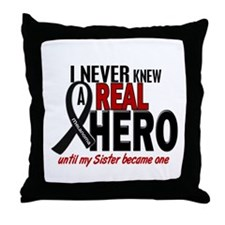 Never Knew A Hero 2 MELANOMA (Sister) Throw Pillow