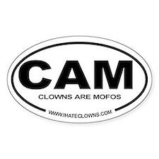 Clowns are Mofos Euro Oval Sticker CAM