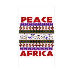 Africa Peace Rectangle Sticker 50 pk)