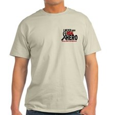 Never Knew A Hero 2 MELANOMA (Father-In-Law) T-Shirt