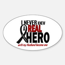 Never Knew A Hero 2 MELANOMA (Husband) Decal