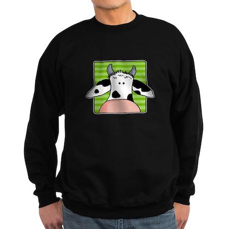 close up cow Sweatshirt (dark)