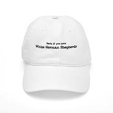 Bark for White German Shepher Baseball Baseball Cap