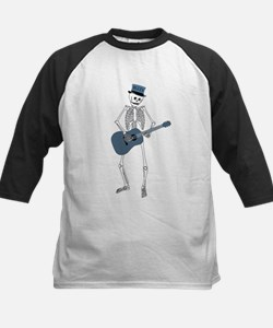 Bluesman Skeleton Kids Baseball Jersey
