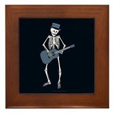 Bluesman Skeleton Framed Tile