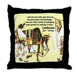 Eastern Thought: Confucius Throw Pillow