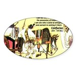 Eastern Thought: Confucius Oval Sticker