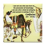 Eastern Thought: Confucius Tile Coaster