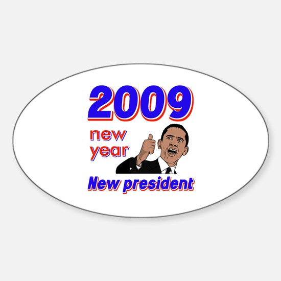 New year New President Oval Decal