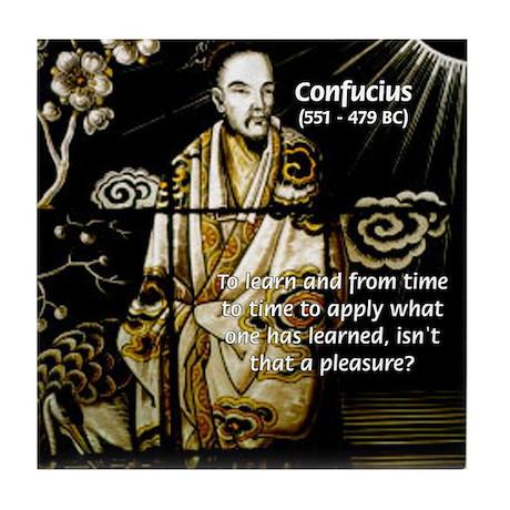 Confucius Tile Coaster