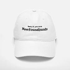Bark for Newfoundlands Baseball Baseball Cap