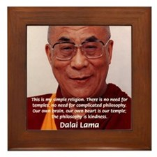 His Holiness the Dalai Lama Framed Tile