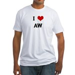 I Love AW Fitted T-Shirt