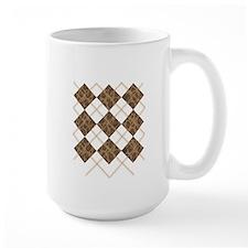 Leopard Argyle (Stitched) Mug