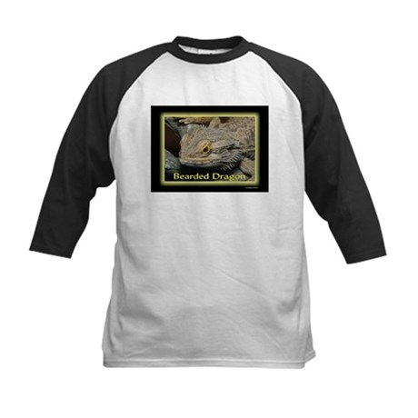 Bearded Dragon Neon Kids Baseball Jersey