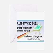 Cure My Cat Greeting Card