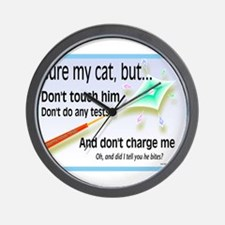 Cure My Cat Wall Clock