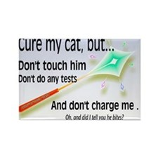 Cure My Cat Rectangle Magnet