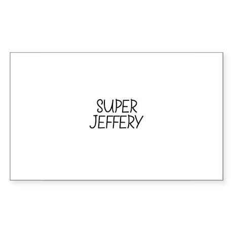 Super Jeffery Rectangle Sticker