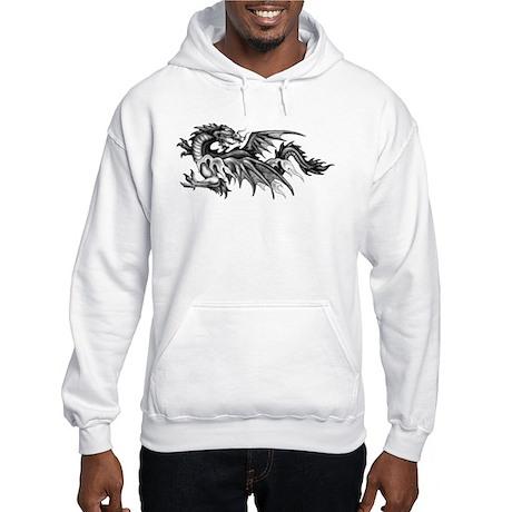 Dragon Looking Back Hooded Sweatshirt