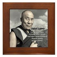 The 14th Dalai Lama Framed Tile