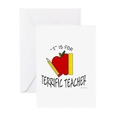 """""""Terrific Teacher"""" Greeting Card"""