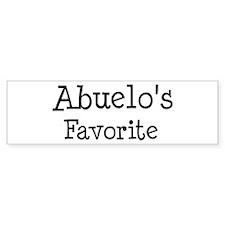 Abuelo is my favorite Bumper Bumper Sticker