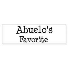 Abuelo is my favorite Bumper Sticker (50 pk)